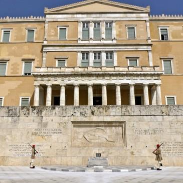 Syntagma, het plein van volk, elite en machthebbers.