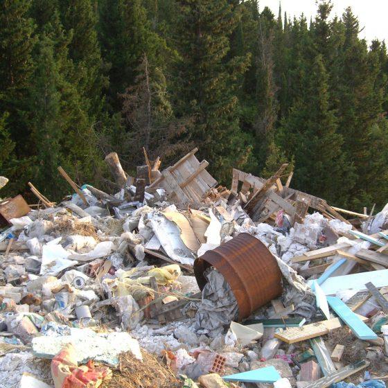Illegale vuilnisbelt Corfu