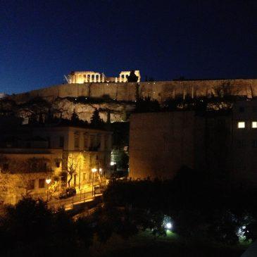 Het licht uit op de Acropolis