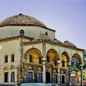 Foto: De Tsisdarakis moskee. Bericht: De verdwenen moskeeën van Athene. www.andergriekenland.nl