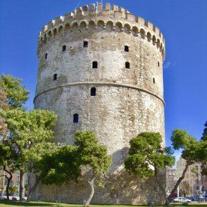 Foto: De Witte Toren. Bericht: De kleur van de Witte Toren. www.andergriekenland.nl
