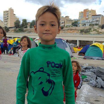Foto-reportage: de vluchtelingenkampen in Athene en Piraeus.