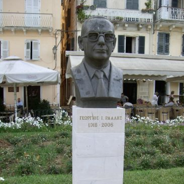 Corfu-stad, buste Georgios Rallis